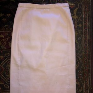 J CREW NO. 2 PENCIL SKIRT BLUSH COTTON SIZE 0 Tall